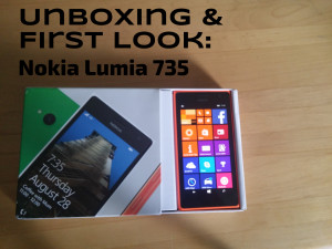 Nokia Lumia 735: Unboxing and a first look.