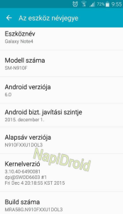 Android 6.0 : Hungarian Galaxy Note 4 Users can already enjoy it.