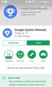 Google Opinion Rewards: An easy way to get Playstore credits